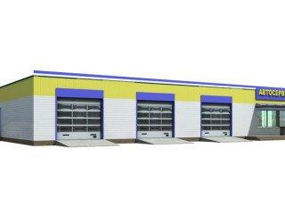 Проект СТО 304 м²