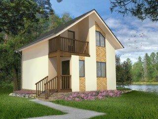 Проект дома с балконом (Котка 2) 112 кв м.
